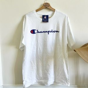 champion spell out Short sleeve tee new